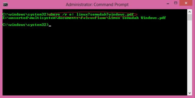 command where